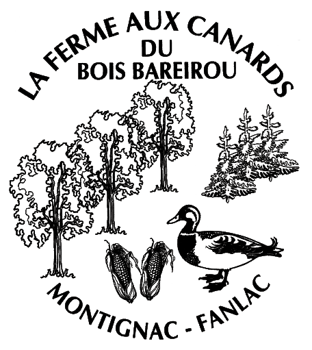 Logo Foie Gras Catinel Ferme aux Canards du Bois Bareirou Version noir